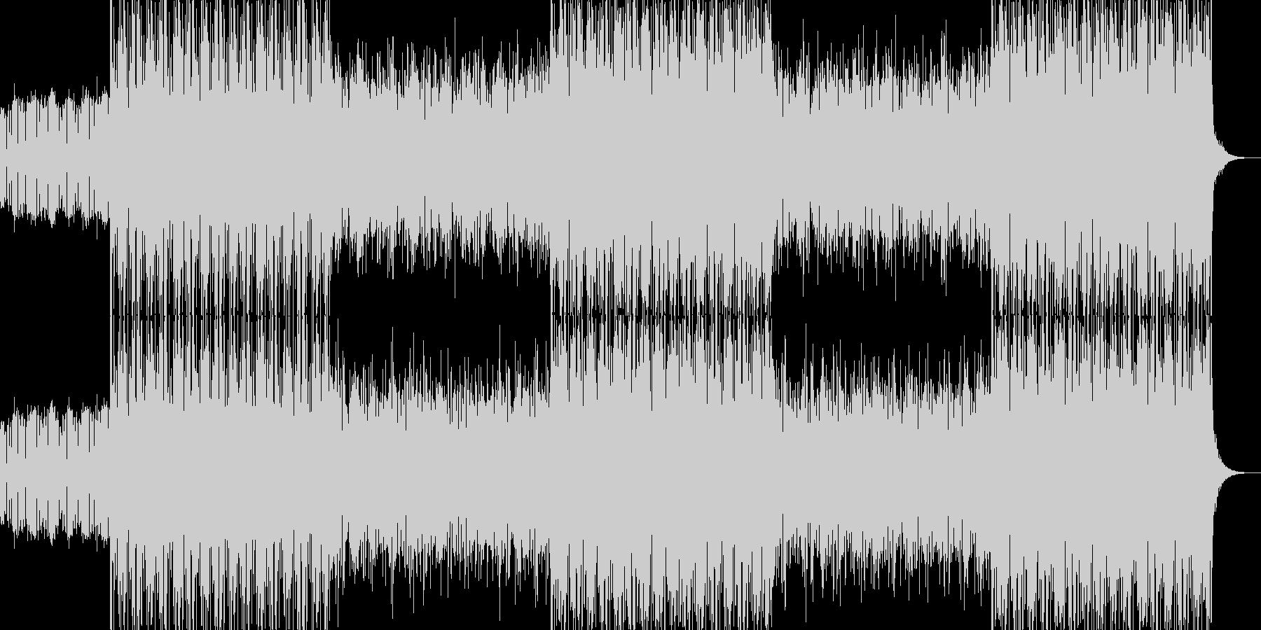 アクションゲーム風 デジロック曲の未再生の波形
