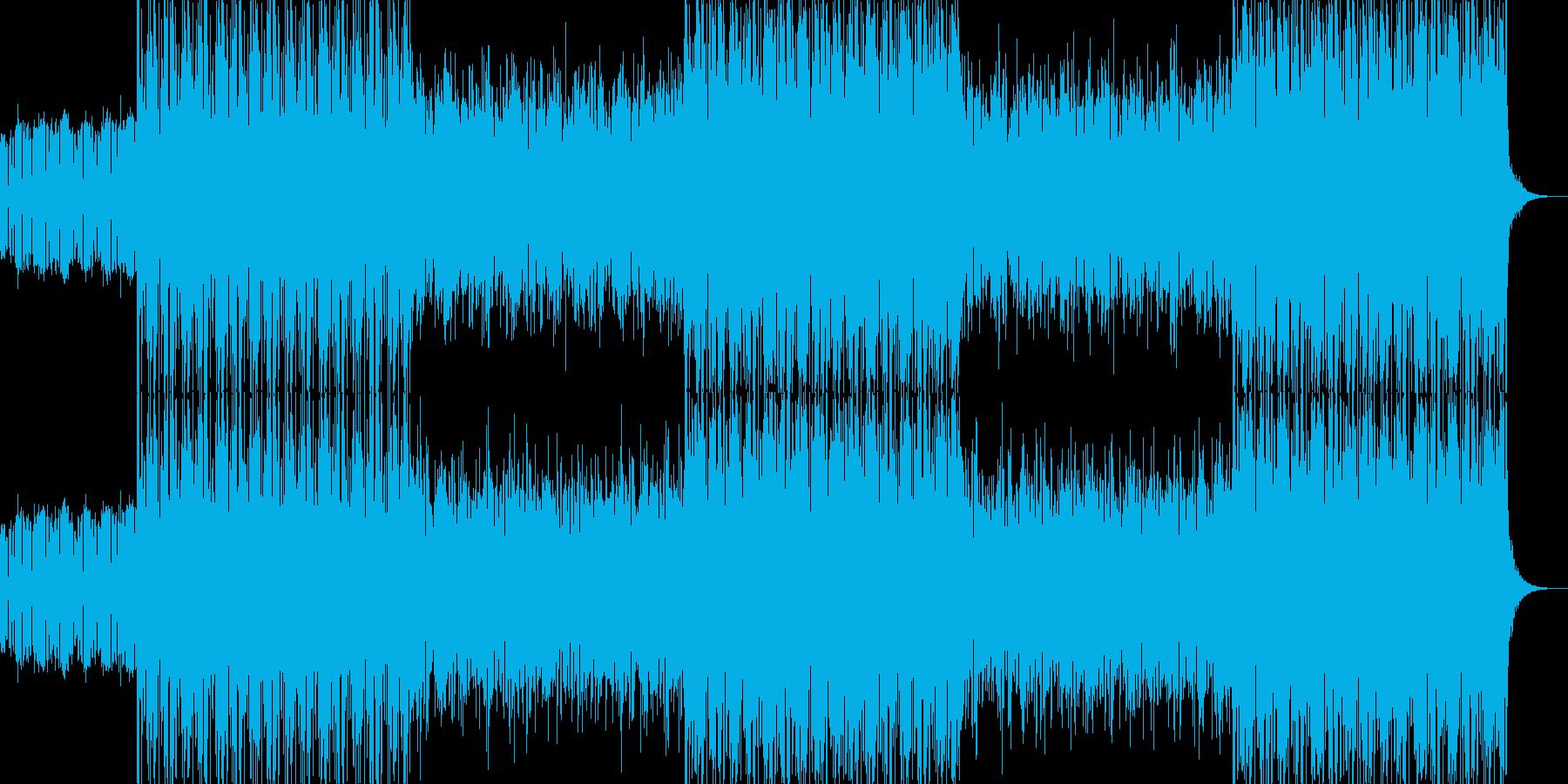 アクションゲーム風 デジロック曲の再生済みの波形