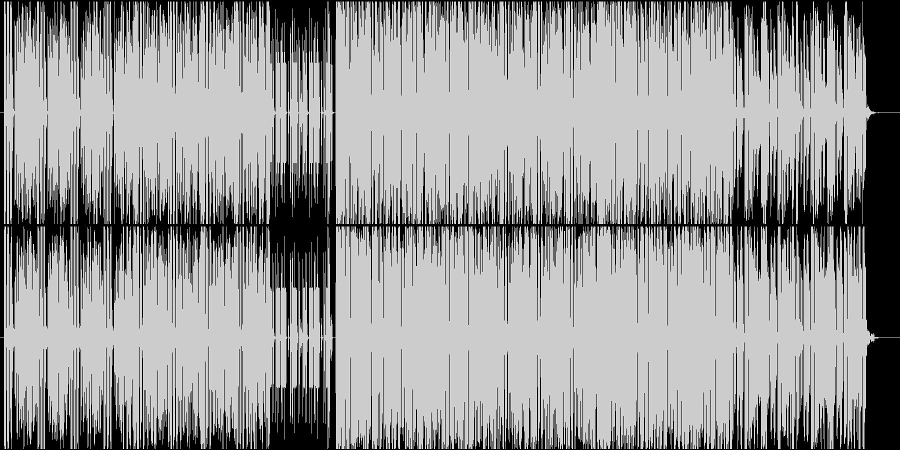 軽快で哀愁感のあるテクノ楽曲の未再生の波形