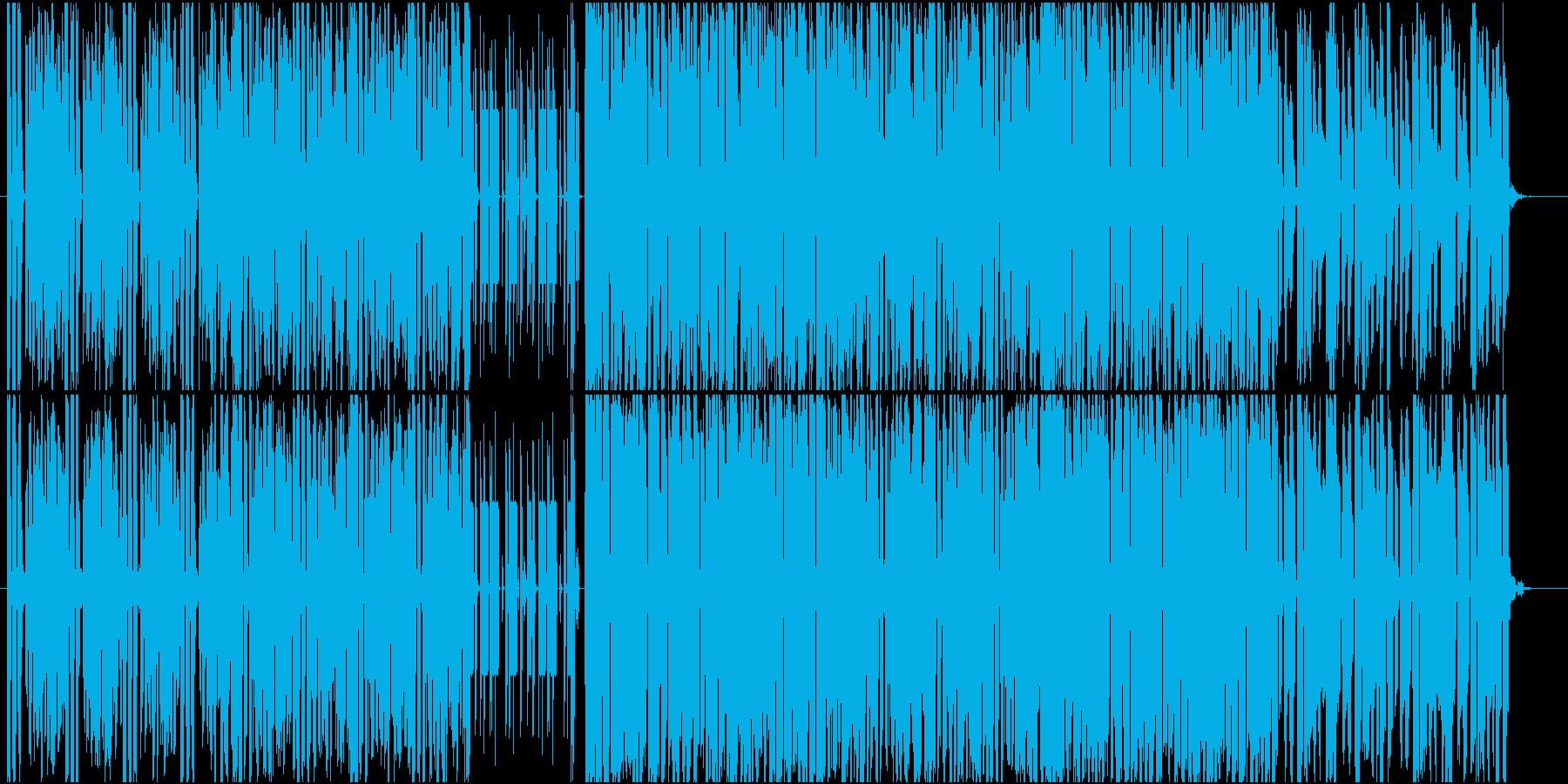 軽快で哀愁感のあるテクノ楽曲の再生済みの波形