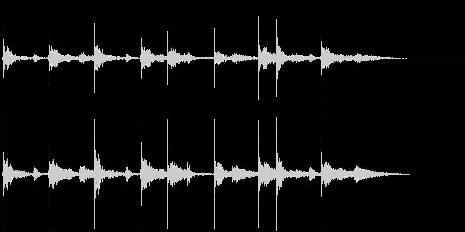 ほのぼのジングルまたはロゴの未再生の波形