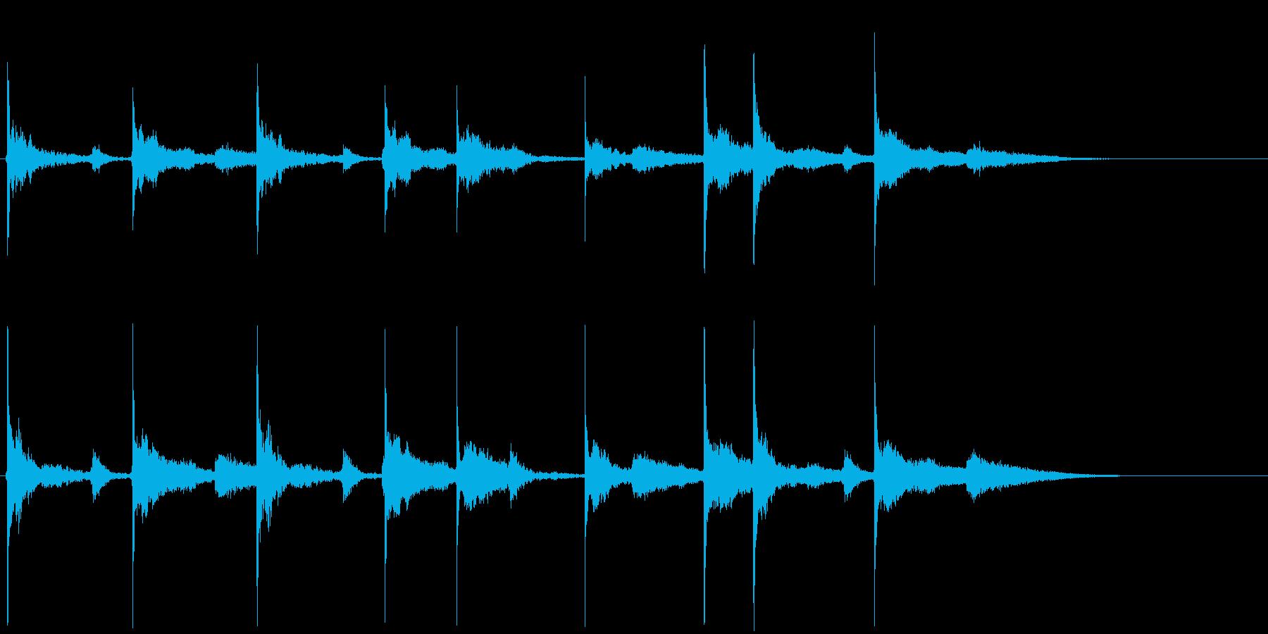 ほのぼのジングルまたはロゴの再生済みの波形