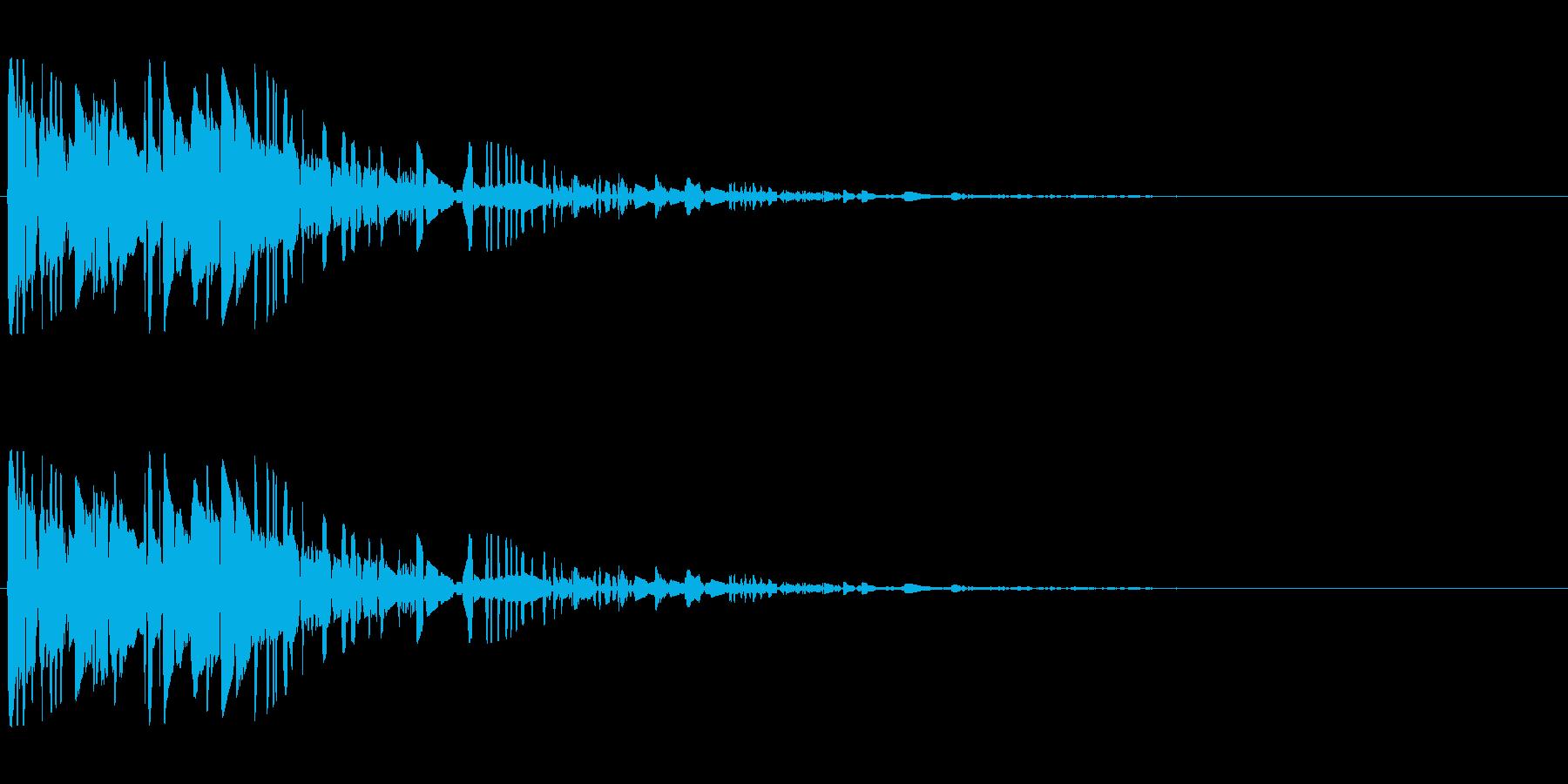 ドサッ(落下や倒れる衝撃音)02の再生済みの波形