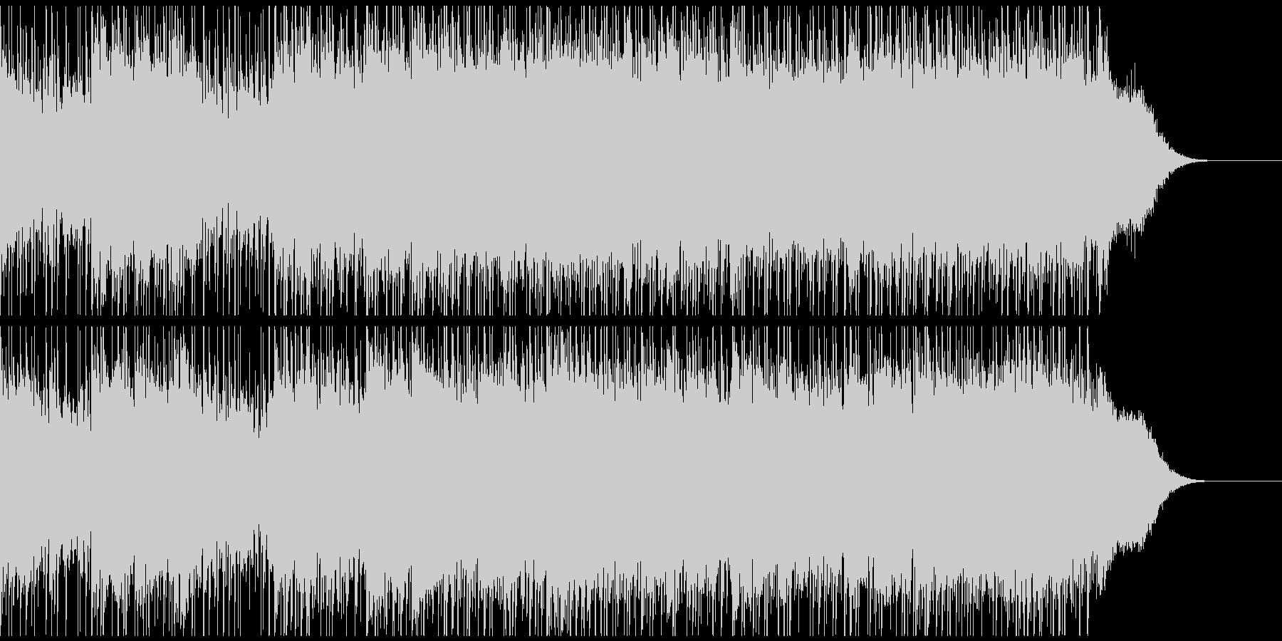 混沌とした激しいロック(ショートver)の未再生の波形