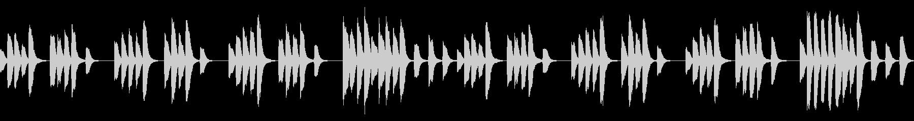 √パズルゲーム等に適したシンプルなBGMの未再生の波形