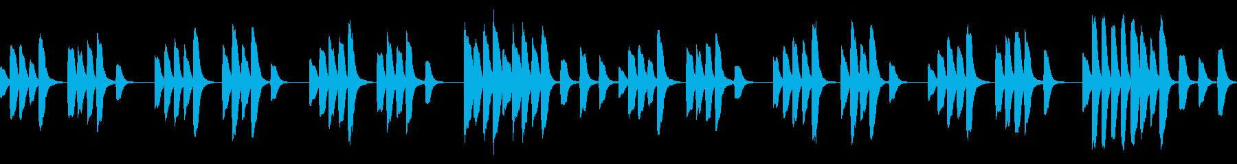 √パズルゲーム等に適したシンプルなBGMの再生済みの波形