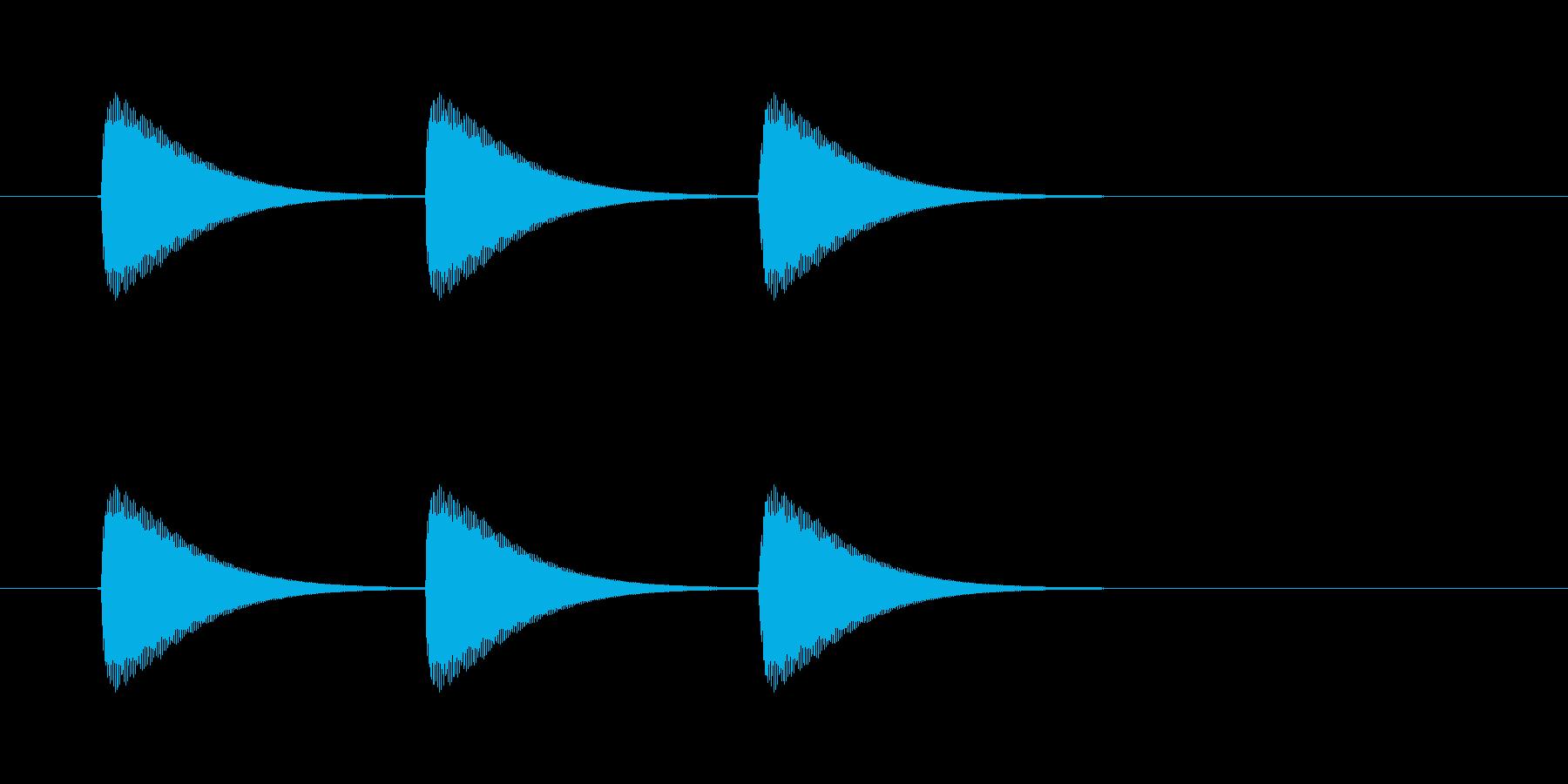 【ショートブリッジ13-4】の再生済みの波形