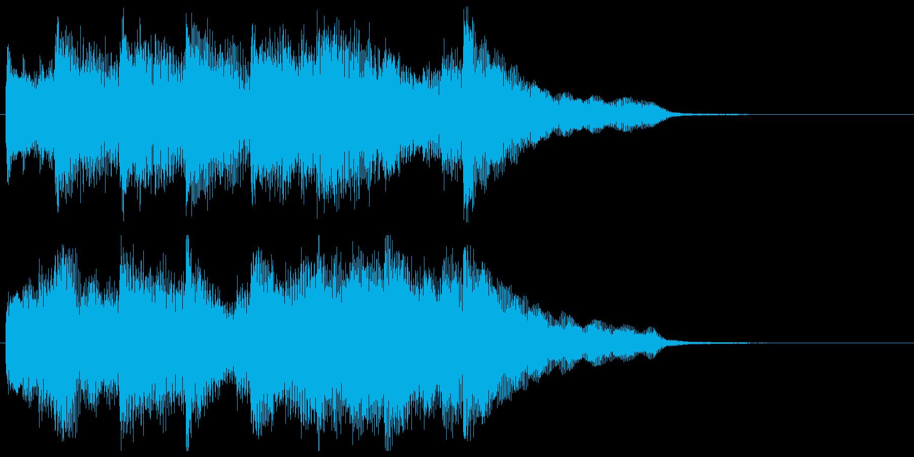 ピアノ10秒ジングル《出逢い》の再生済みの波形