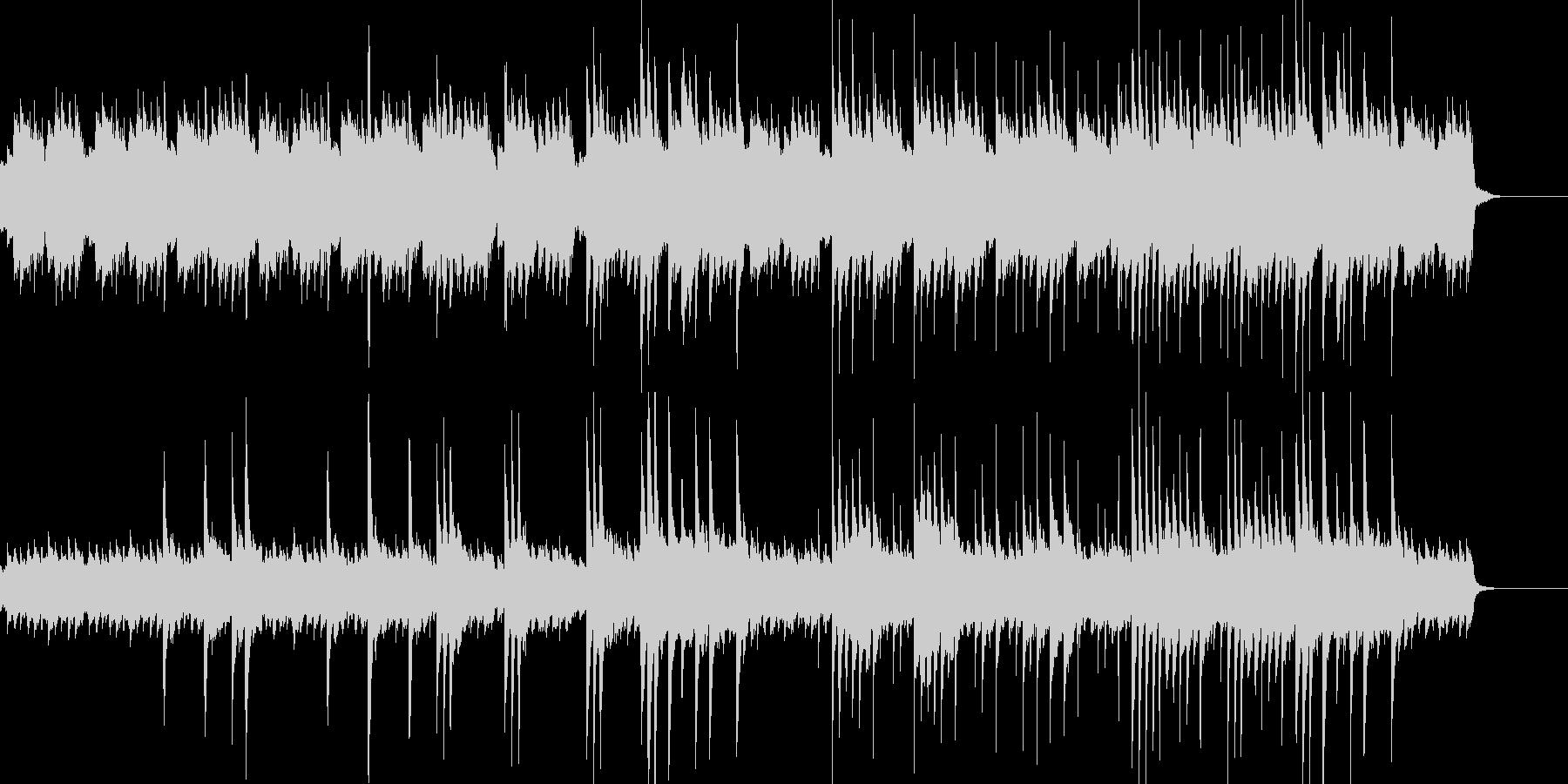 暗いピアノソロの未再生の波形