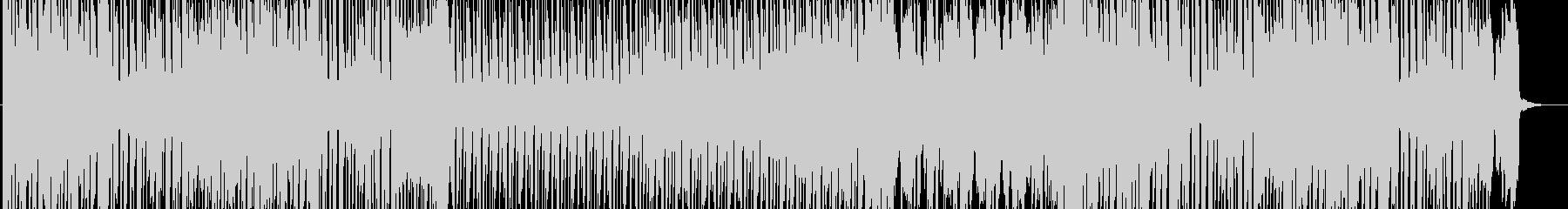 アップテンポでポップなBGMの未再生の波形