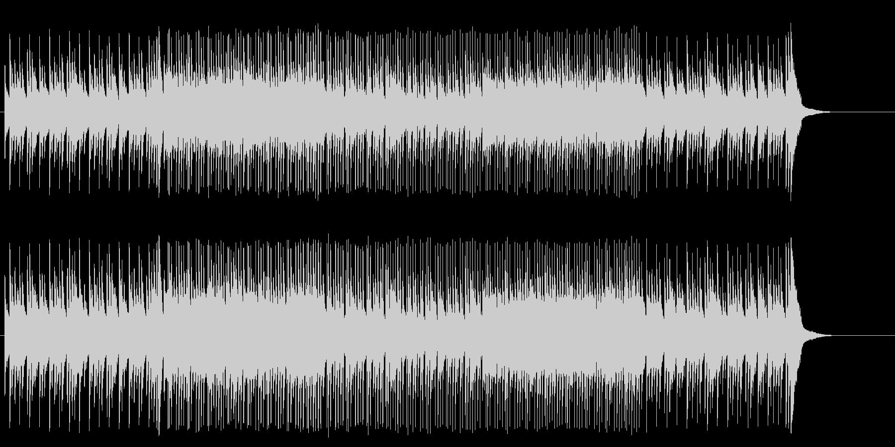 無機質なテクノポップの未再生の波形