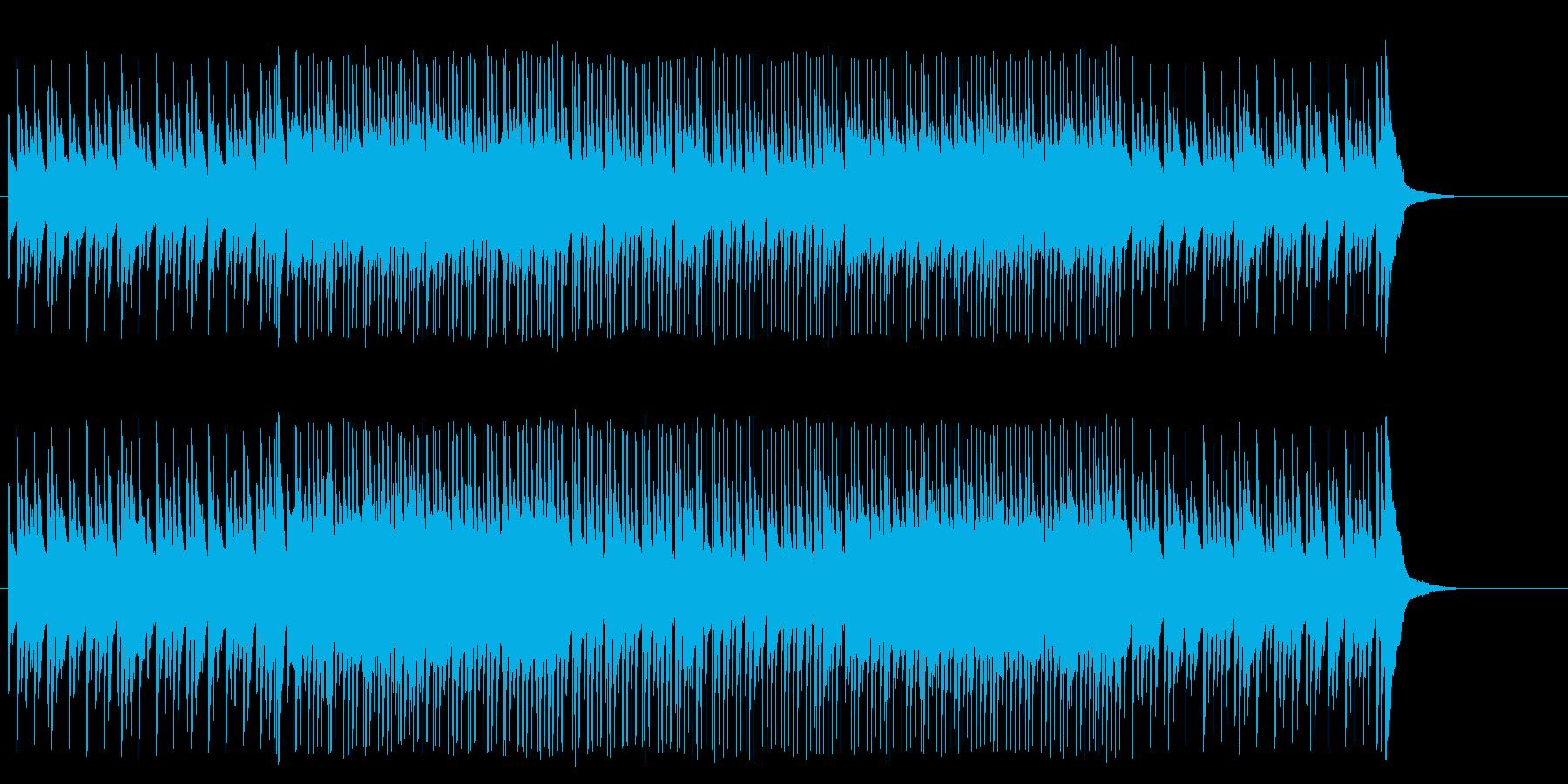 無機質なテクノポップの再生済みの波形