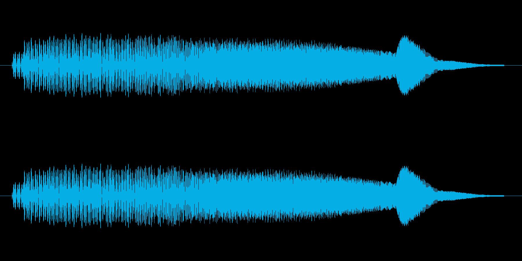 一昔前のSFっぽい効果音。の再生済みの波形