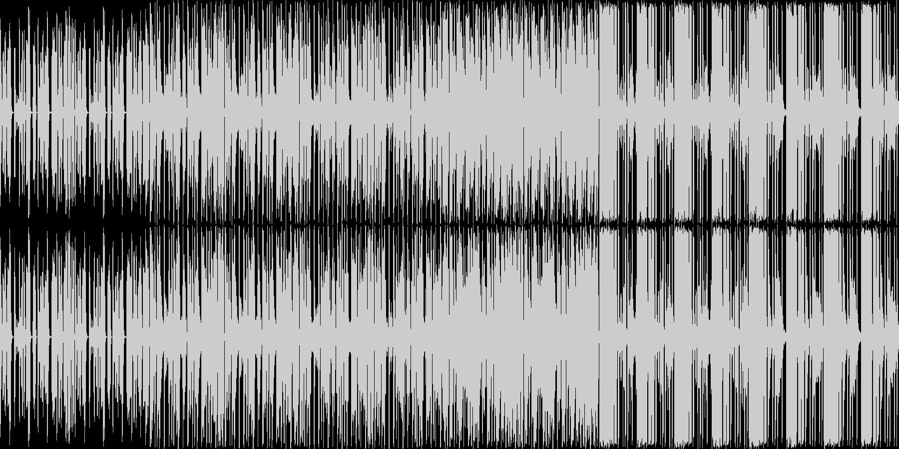 軽快な曲です。の未再生の波形
