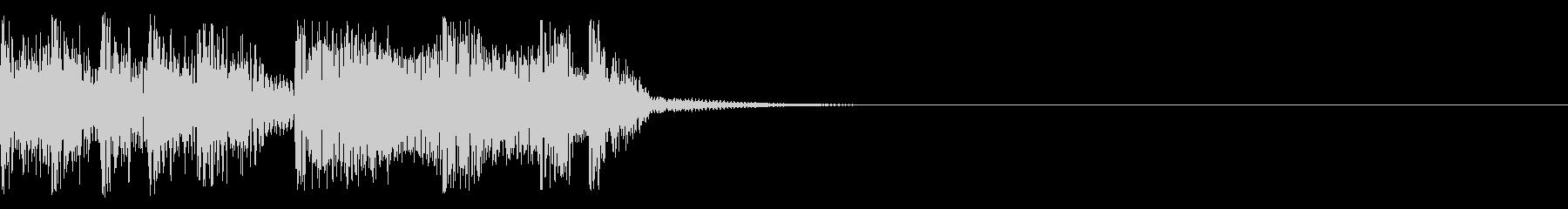 突然の終わりの未再生の波形