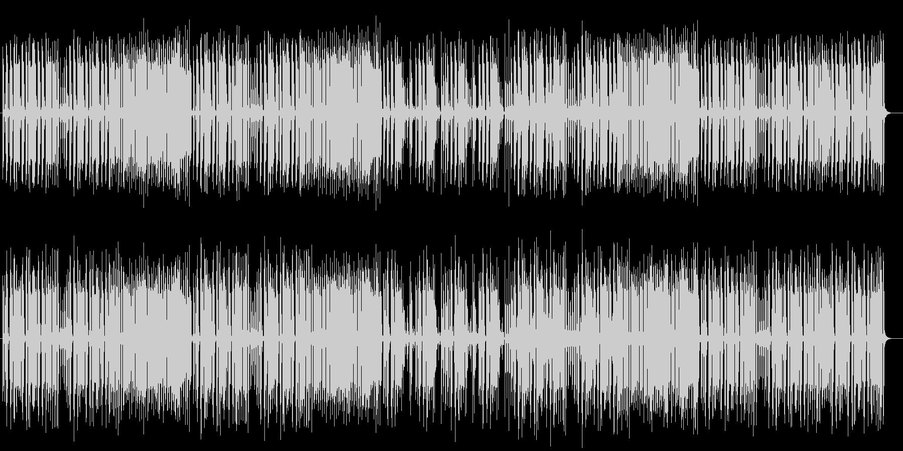 コミカルで楽しげなシンセサイザーサウンドの未再生の波形