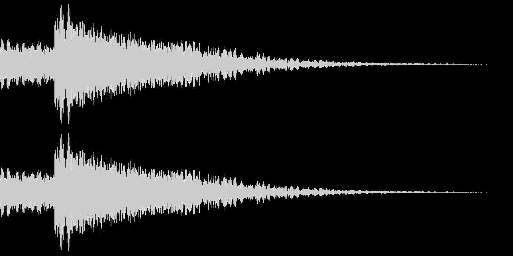 ロボット足音 タイプ4の未再生の波形