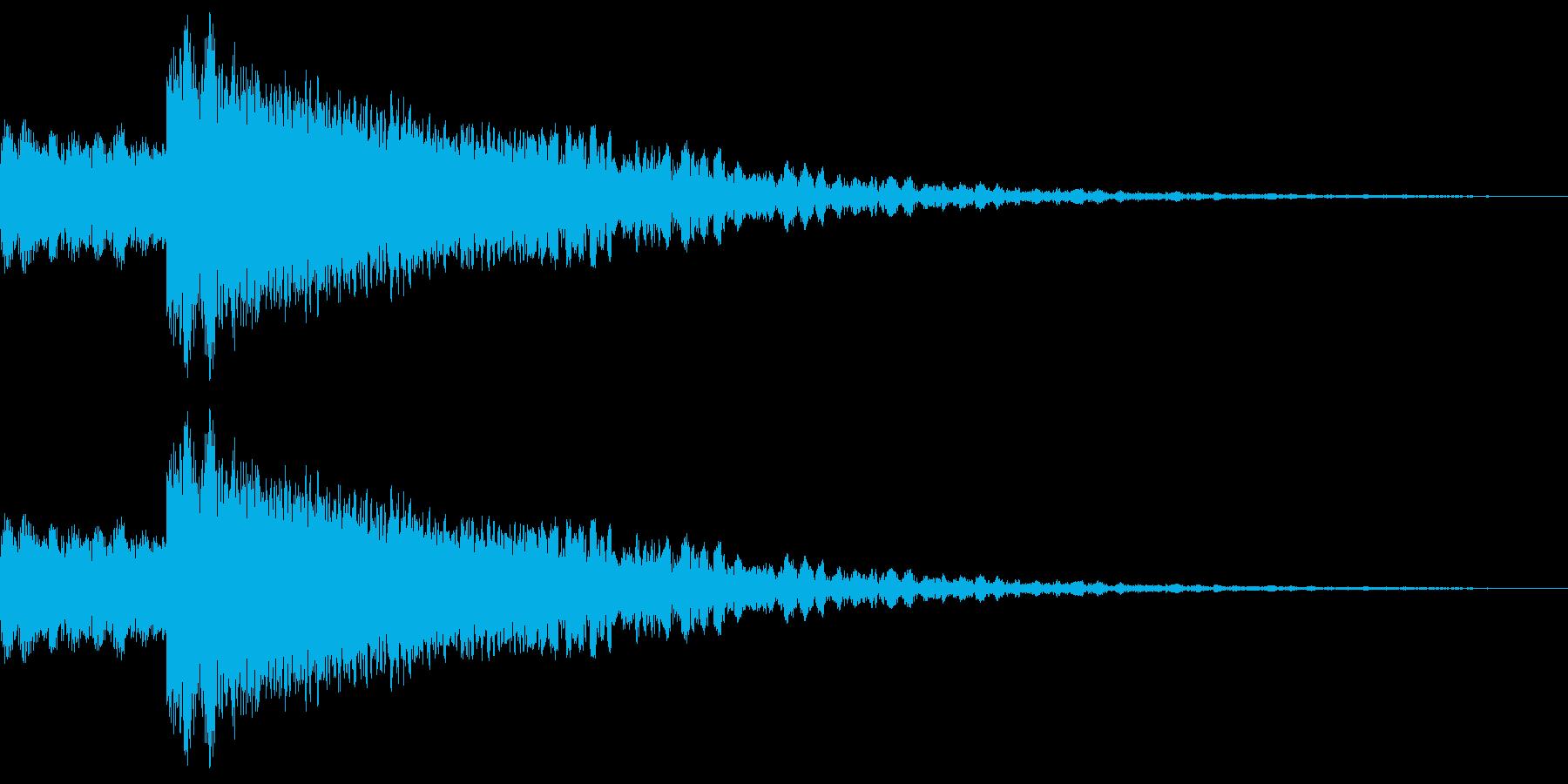 ロボット足音 タイプ4の再生済みの波形
