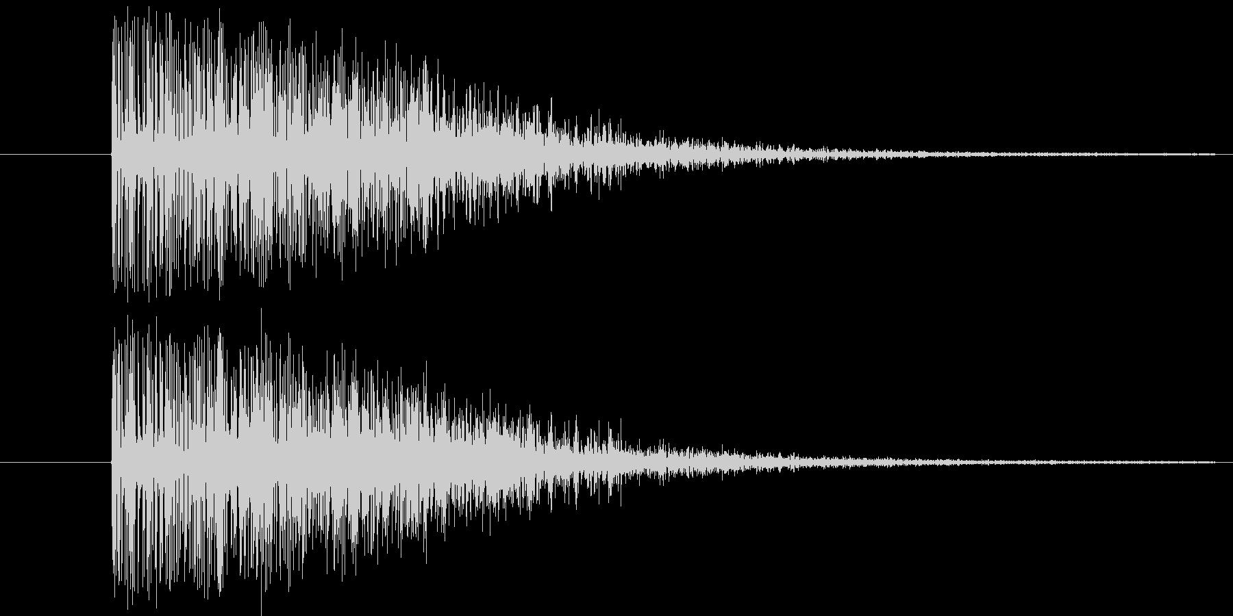 ドカーン(爆発音)ダイナマイトの未再生の波形