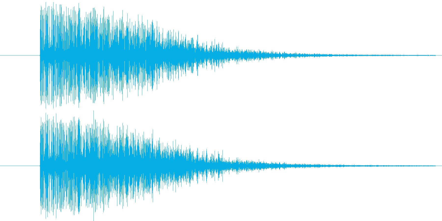 ドカーン(爆発音)ダイナマイトの再生済みの波形
