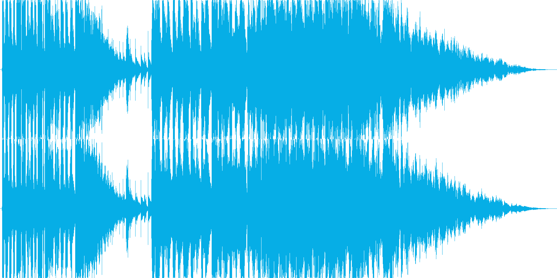 南国のファンファーレ(オープニング向け)の再生済みの波形