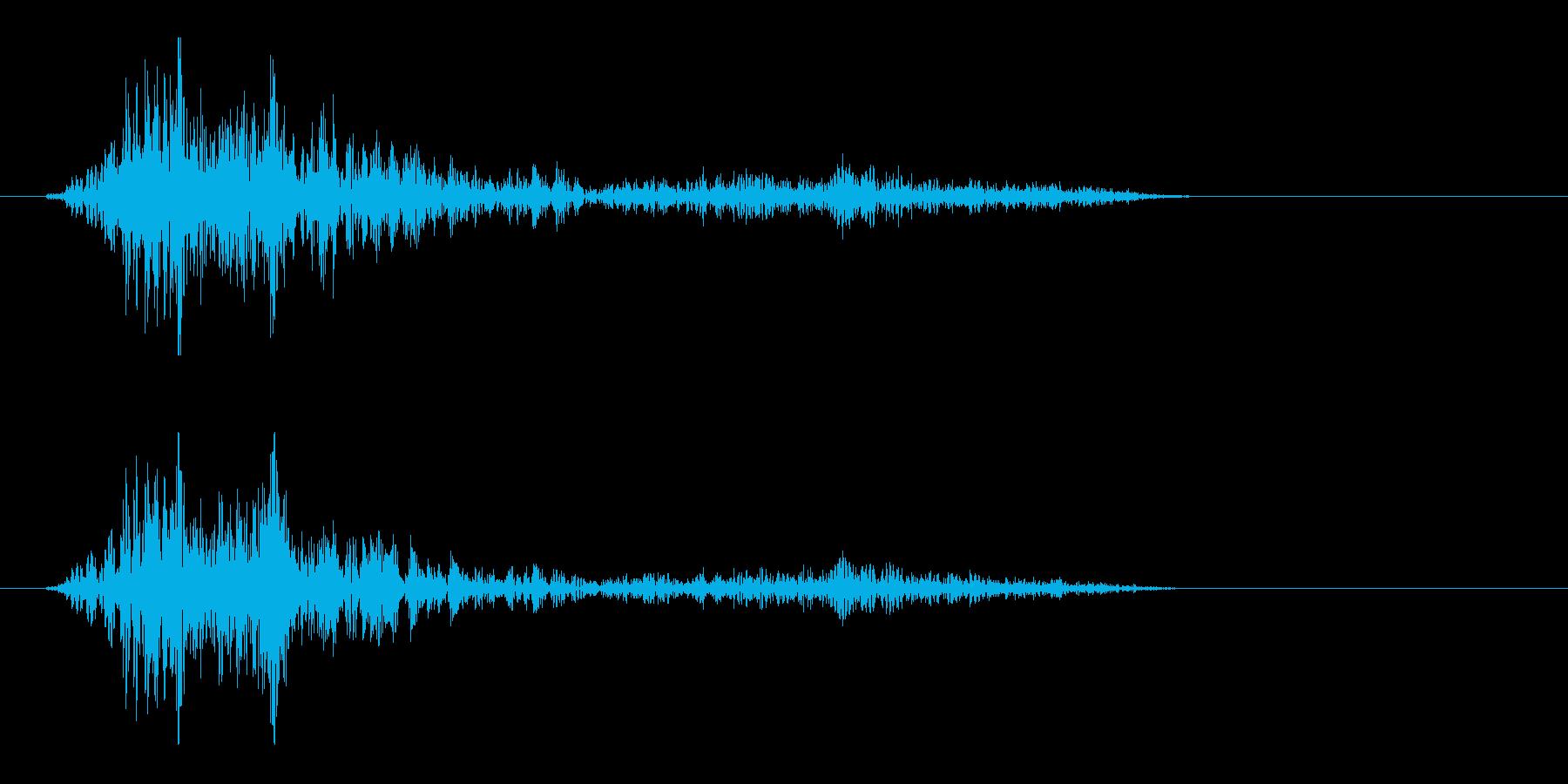ビュンッと風を切る音の再生済みの波形