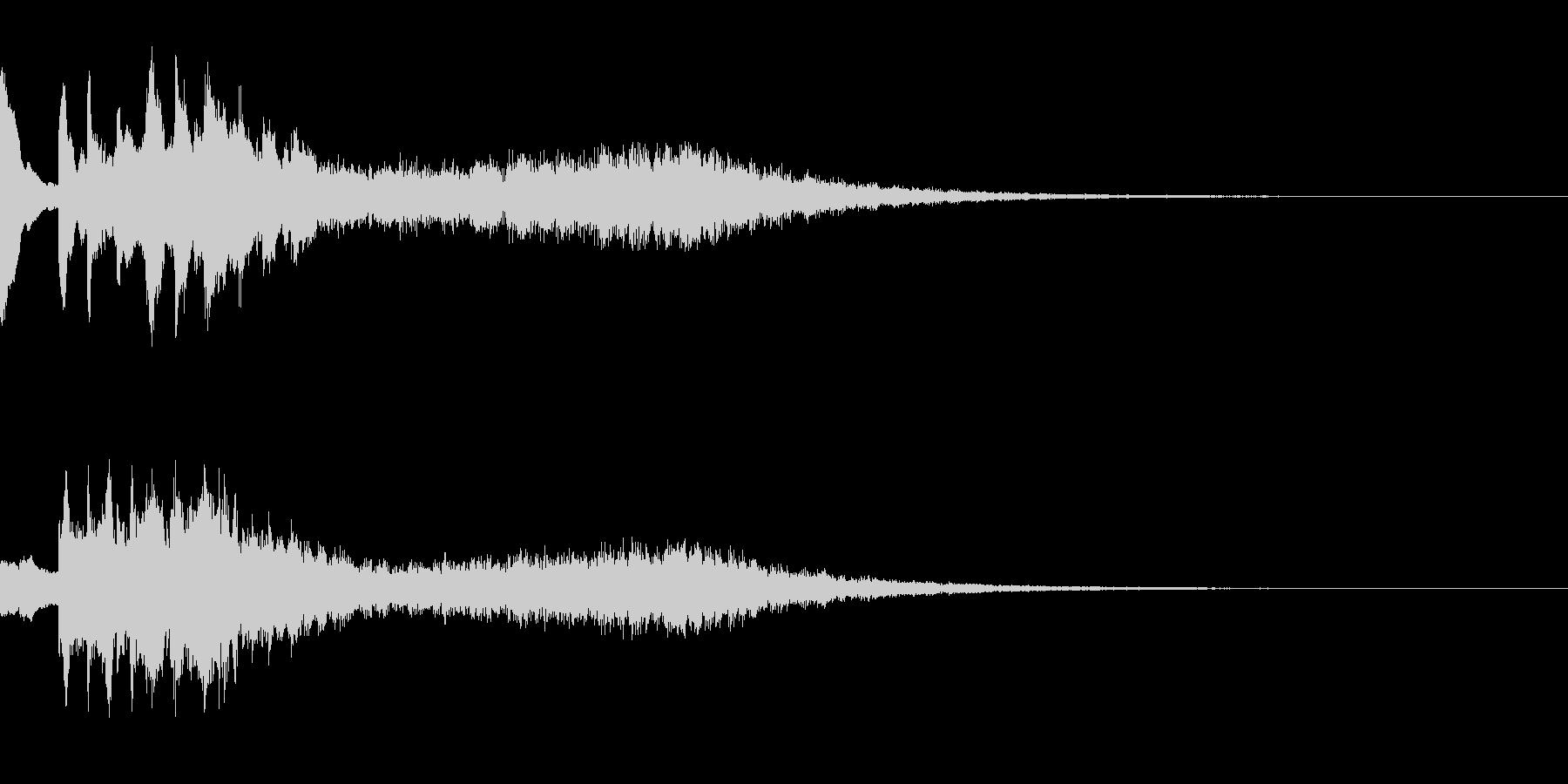 ボタン シタールとマリンバの未再生の波形