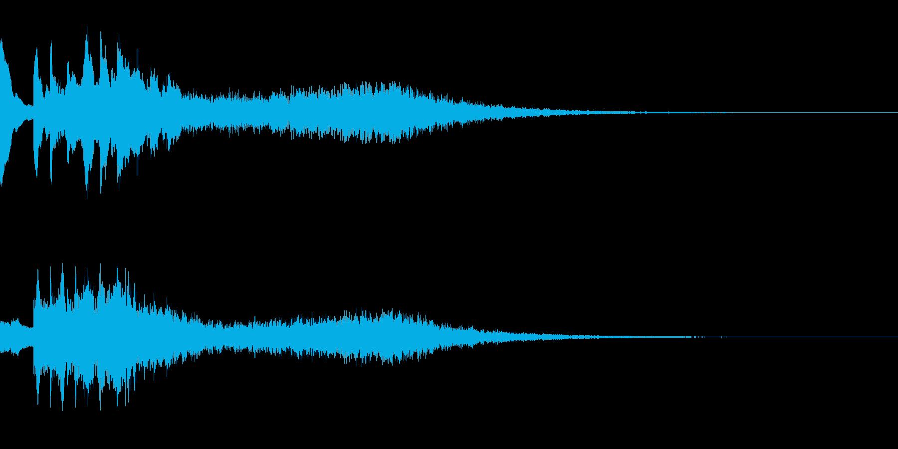 ボタン シタールとマリンバの再生済みの波形