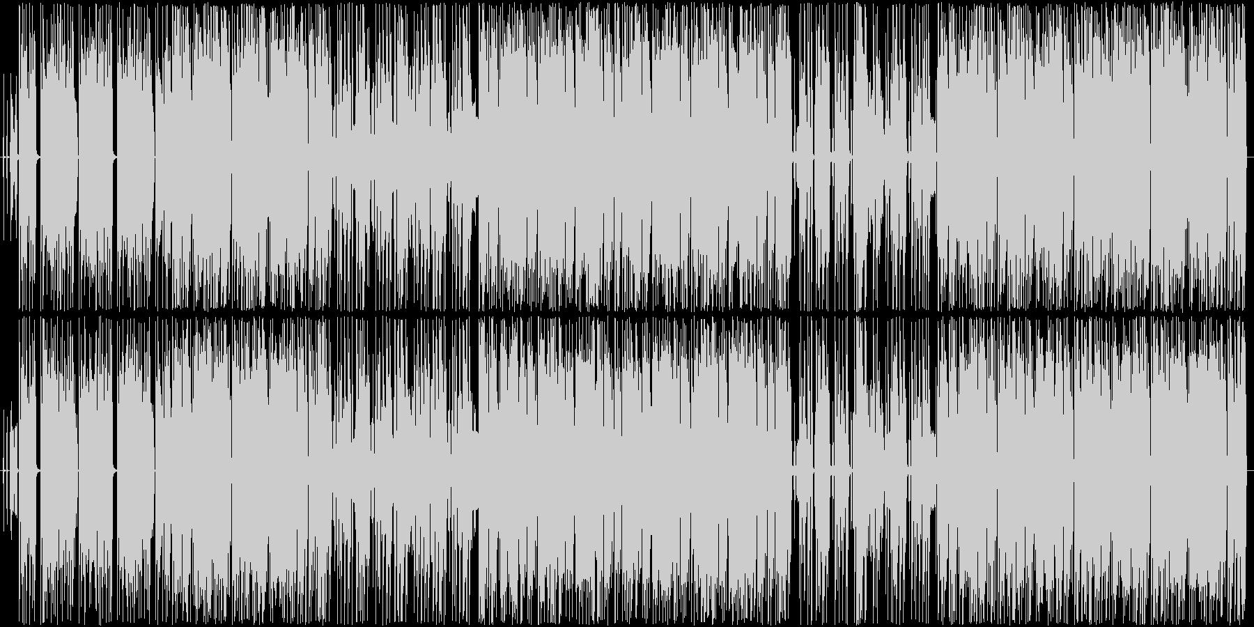 怪しげでダークな機械音声の入ったクラブ曲の未再生の波形
