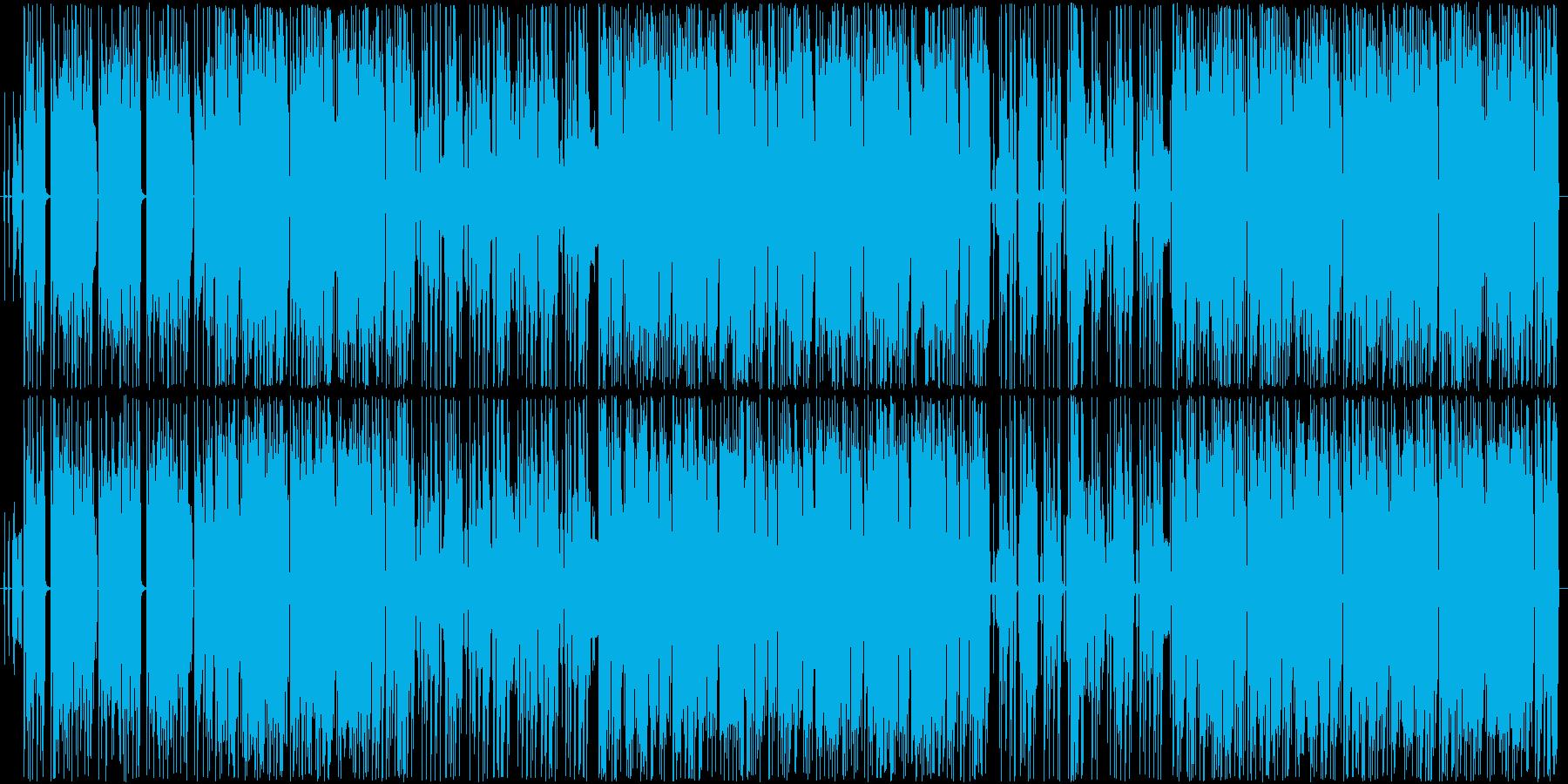 怪しげでダークな機械音声の入ったクラブ曲の再生済みの波形