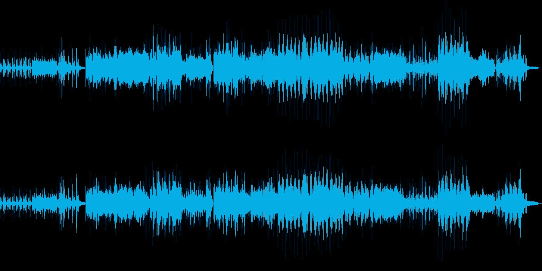 リラックス 和楽器とピアノ バラードの再生済みの波形