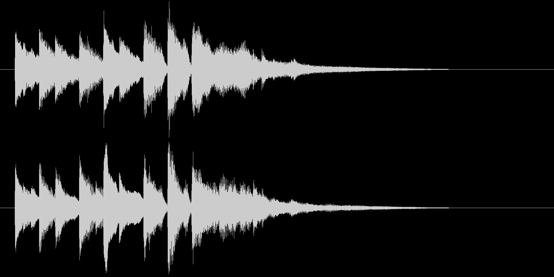 ピアノソロジングルの未再生の波形