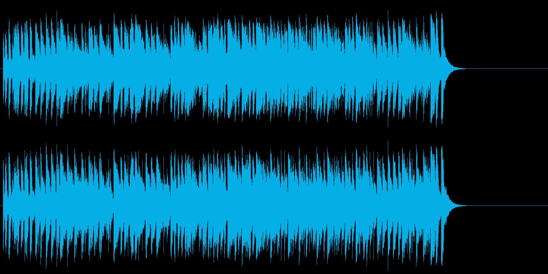 爽快なフュージョン(イントロ~サビ~…)の再生済みの波形