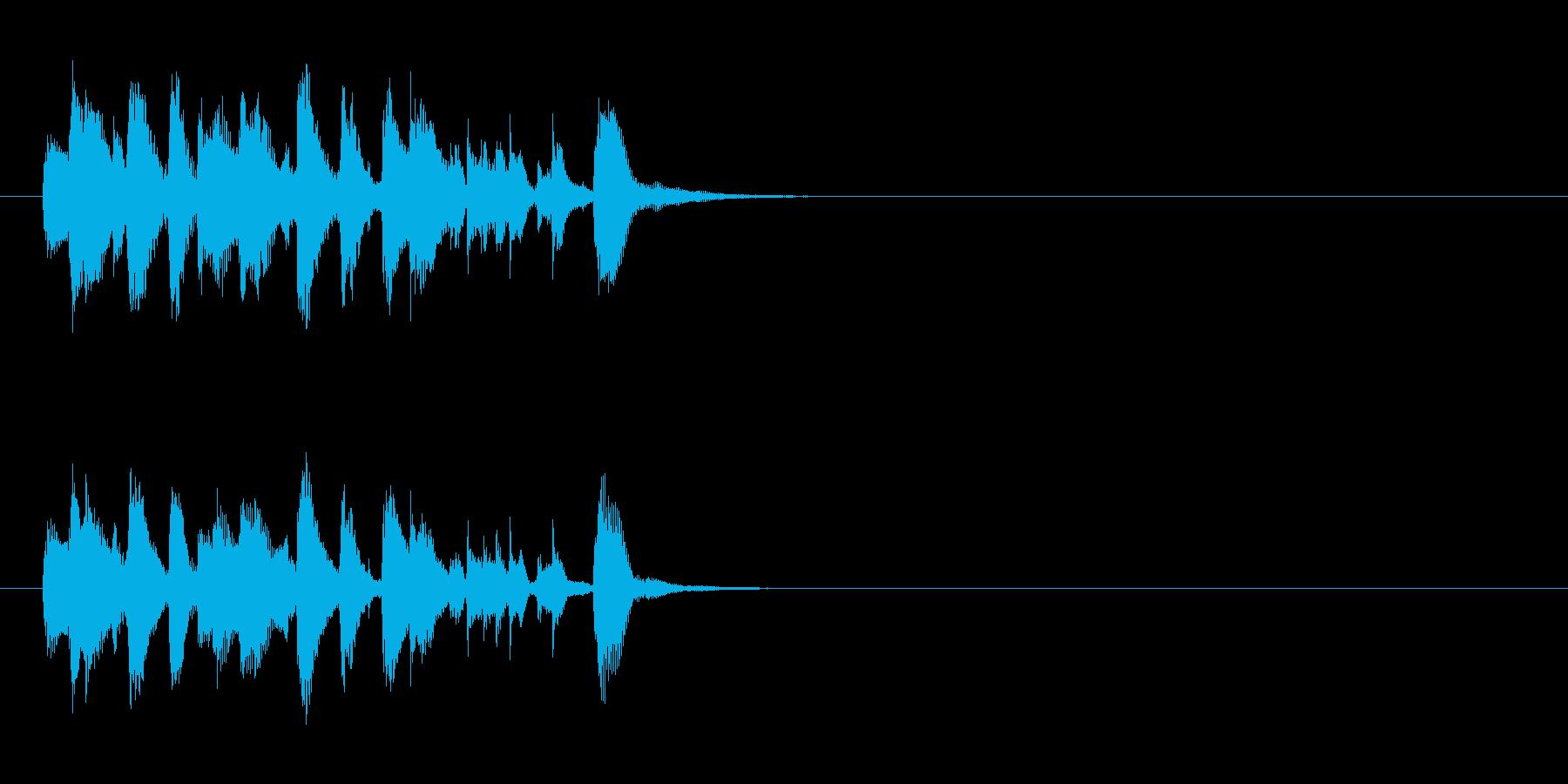 ジングル/コミカル(古き良き喜劇映画風)の再生済みの波形