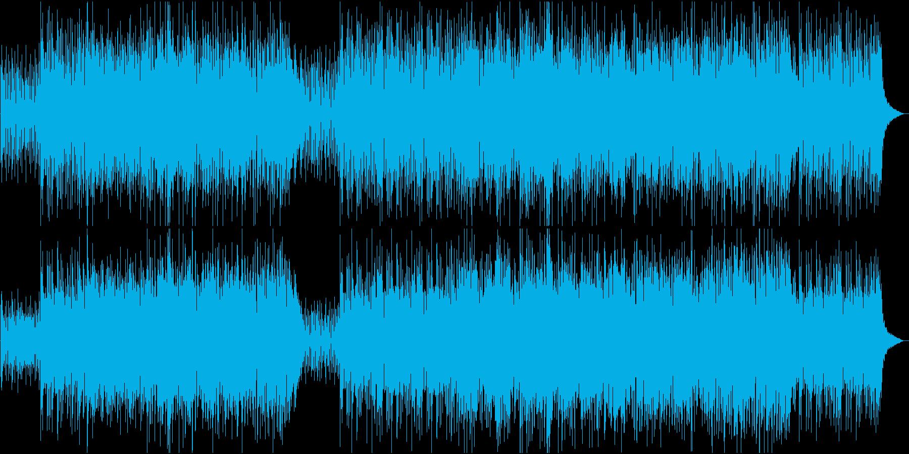 清々しい早めのボサノバ_ギターとフルートの再生済みの波形