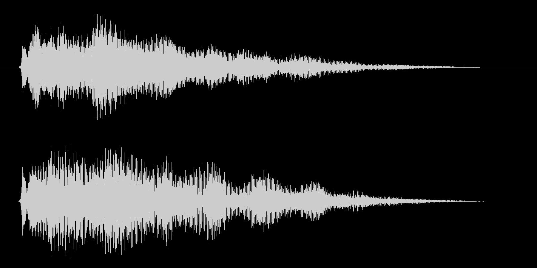 ポジティブなキラキラ系の成功・完了した音の未再生の波形