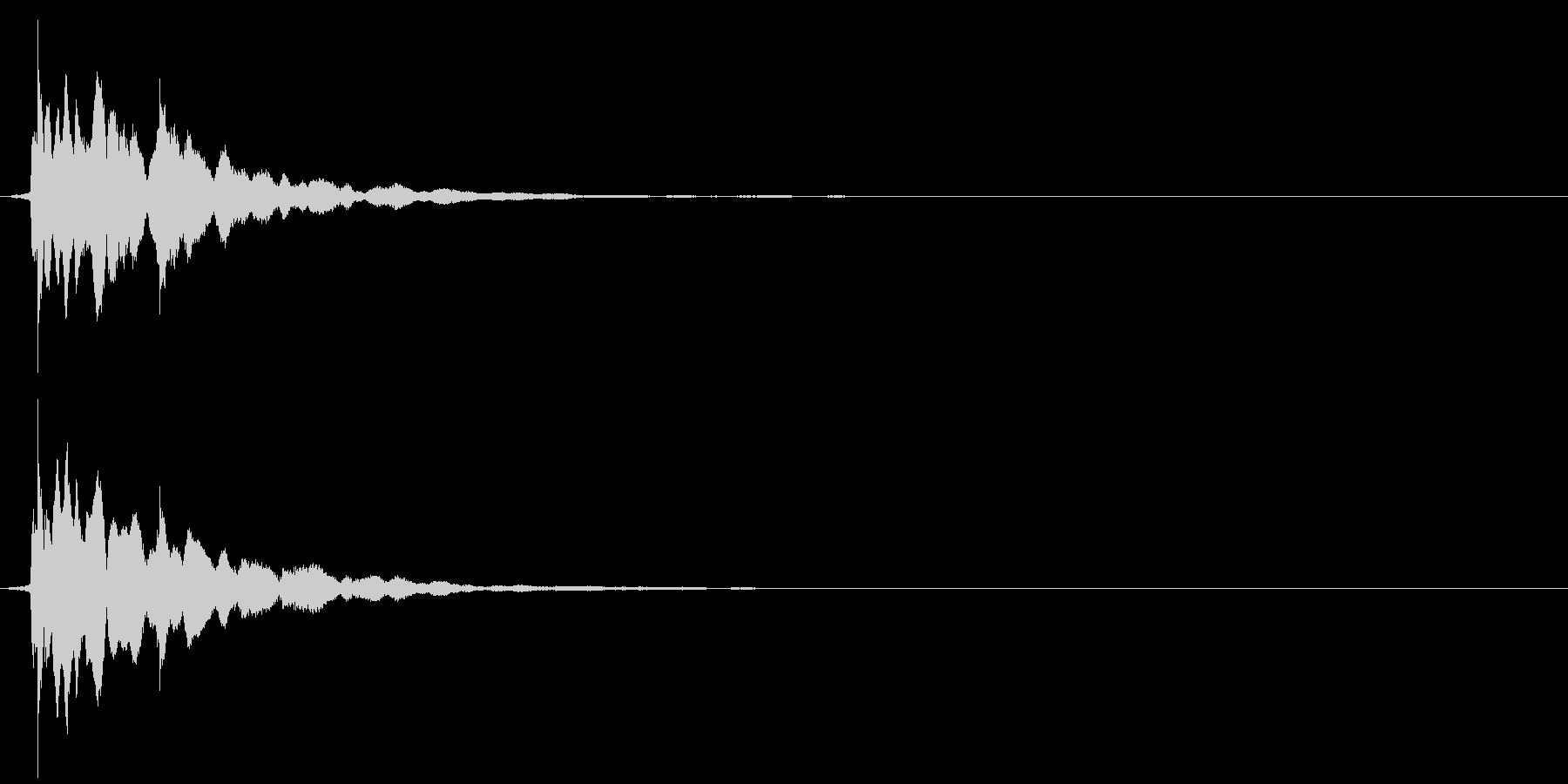 チャリーン(コイン)の未再生の波形