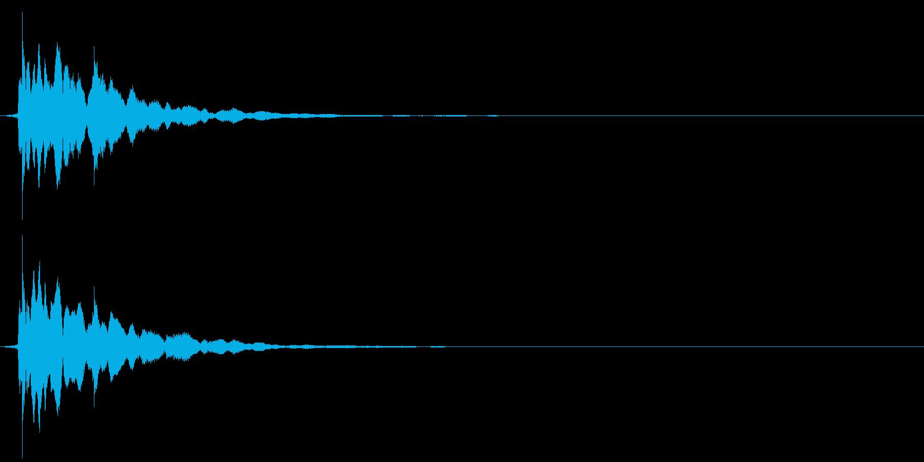チャリーン(コイン)の再生済みの波形