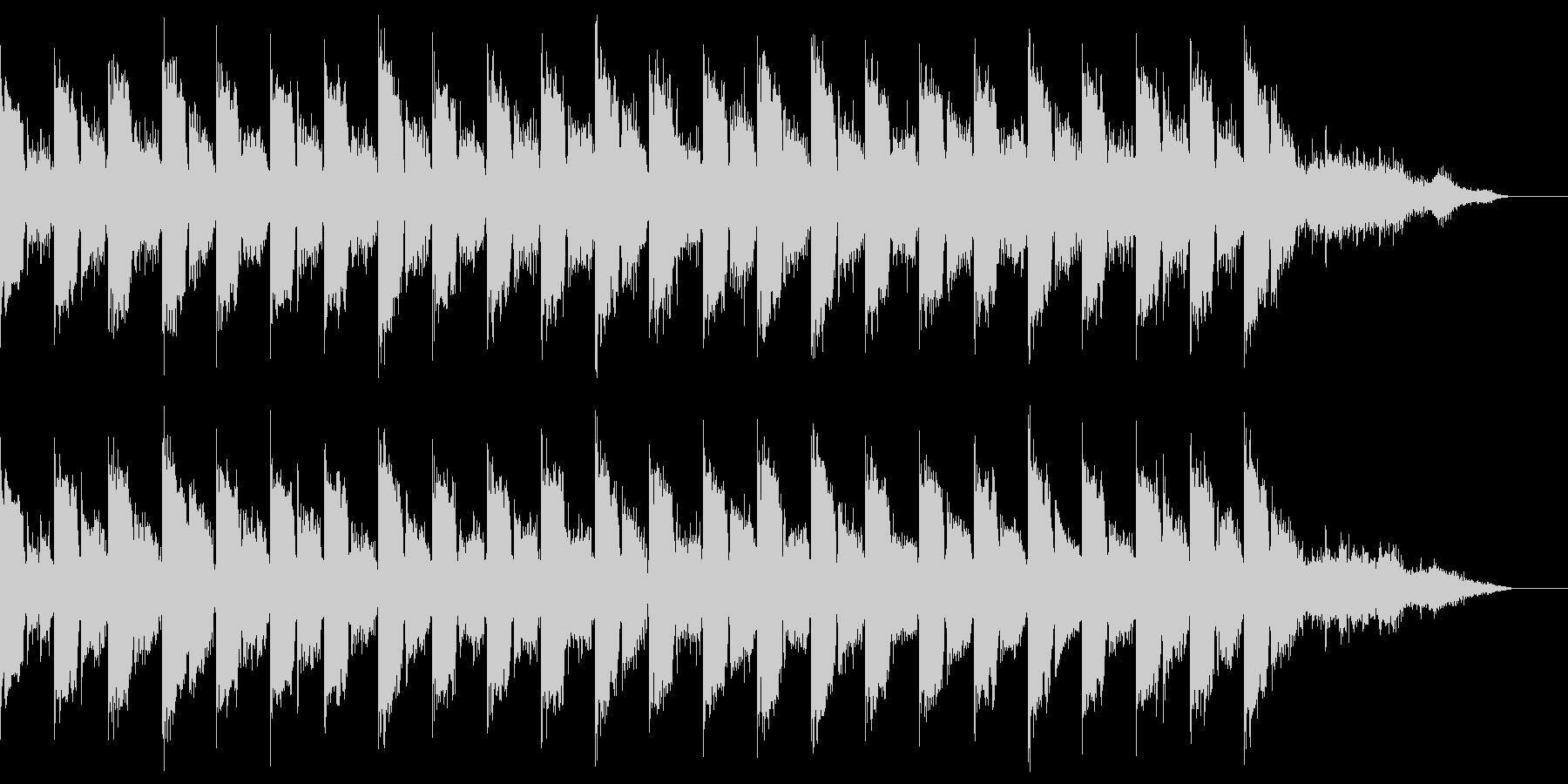 おしゃれなイントロBGMの未再生の波形