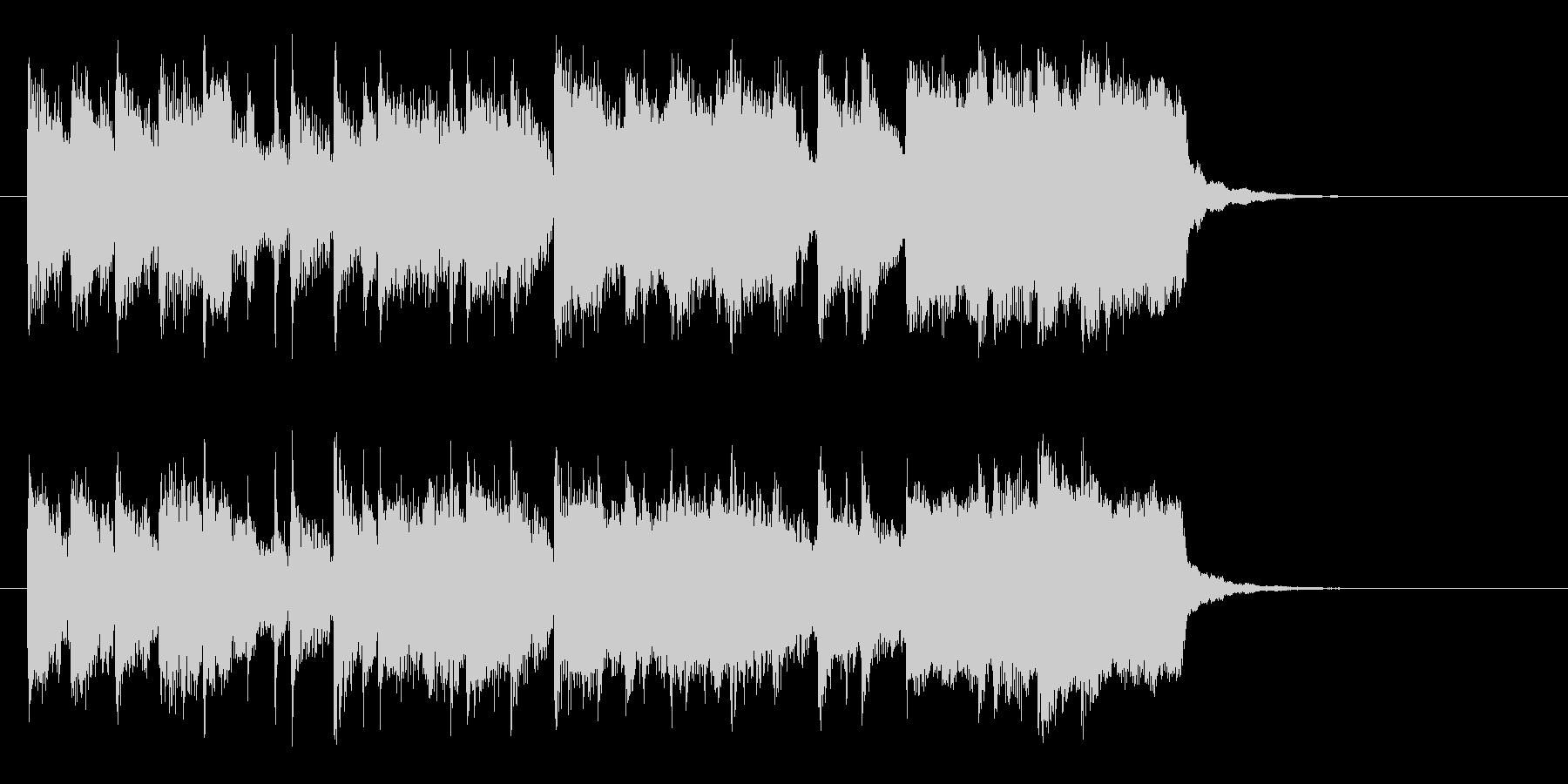 テンポよい明るい短めのシンセサイザーの曲の未再生の波形