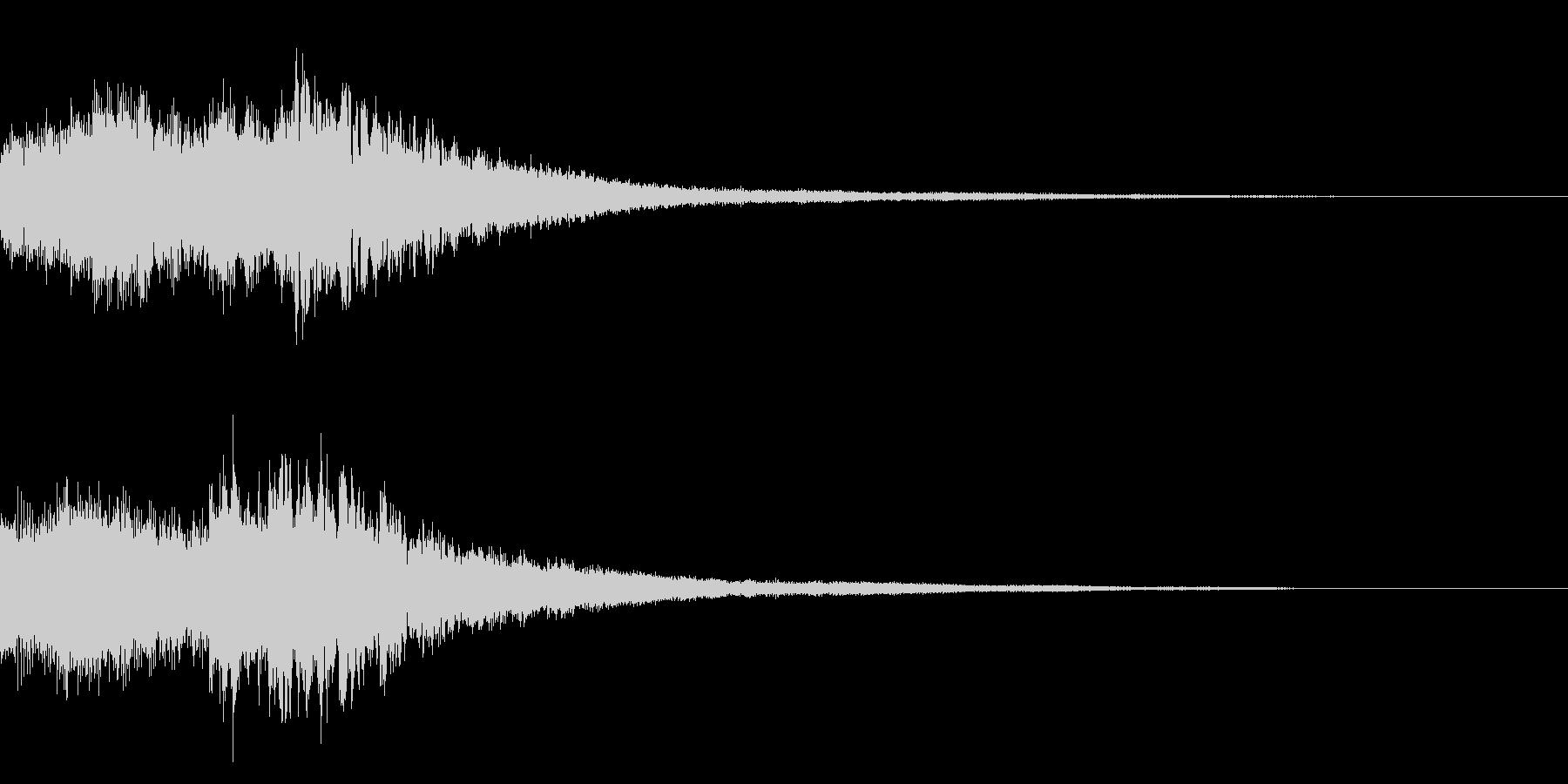 サウンドロゴ(ピアノ系)の未再生の波形