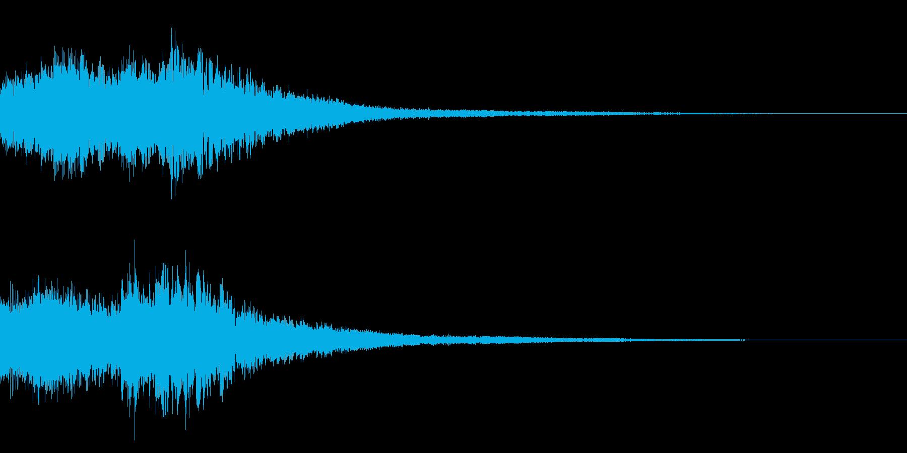 サウンドロゴ(ピアノ系)の再生済みの波形