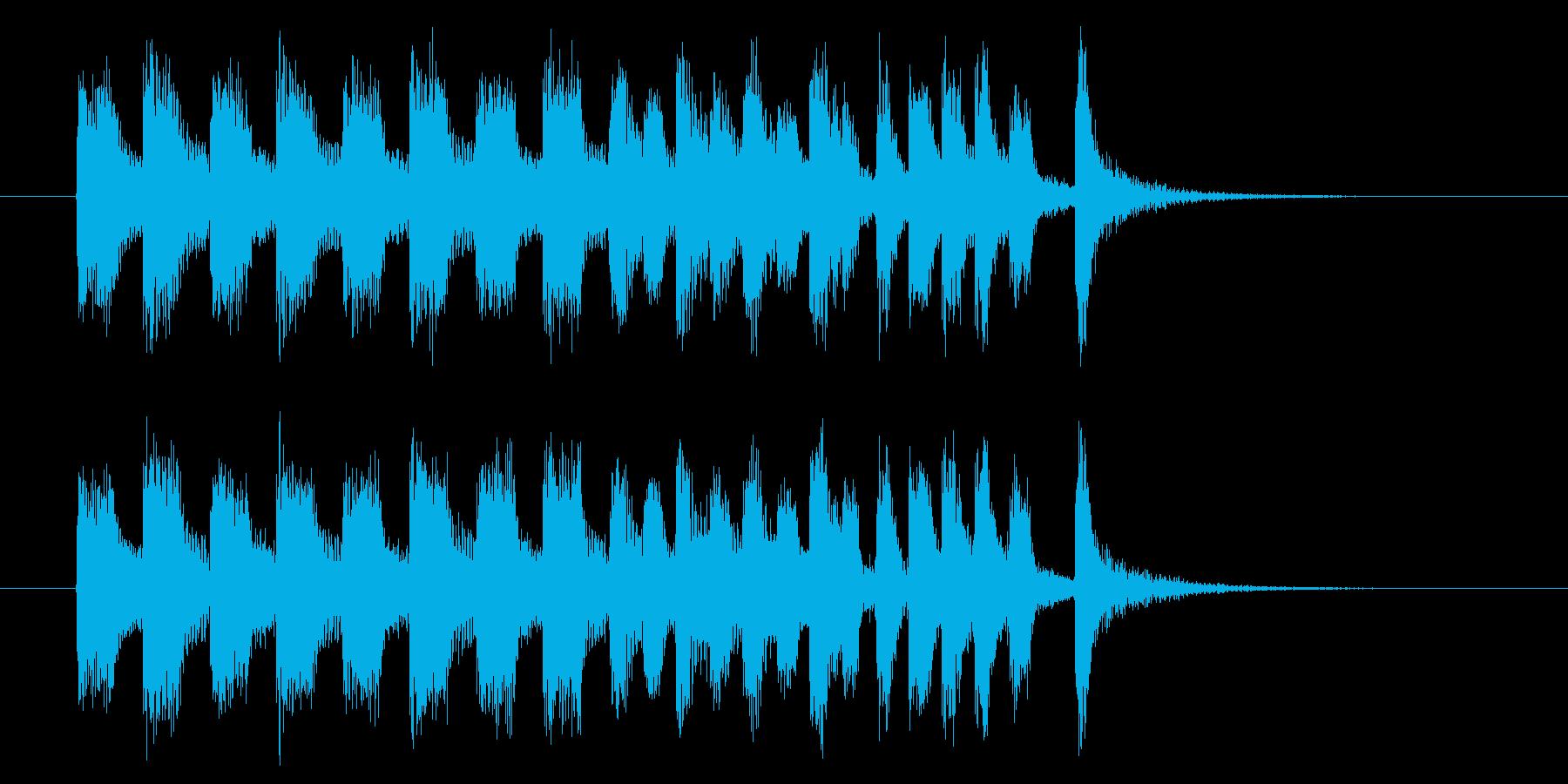 コミカルでキャッチ―トランペットジングルの再生済みの波形