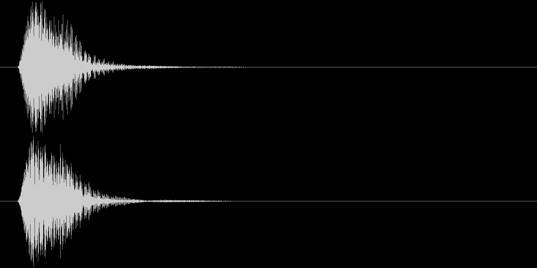 効果音の未再生の波形