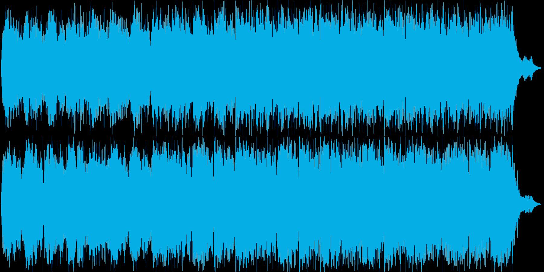 神秘的な曲の再生済みの波形