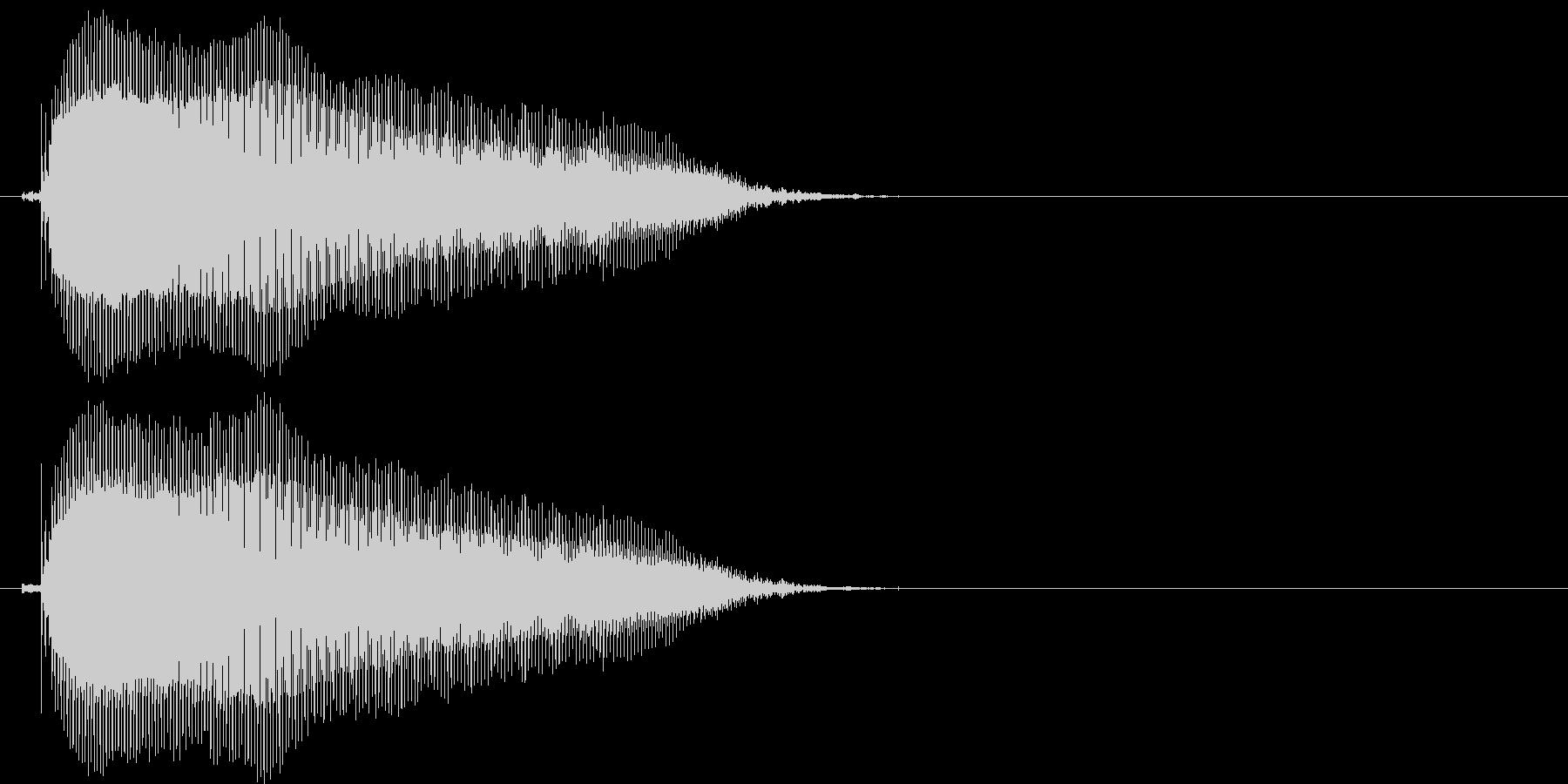 びゃー(1歳児の生声です)の未再生の波形