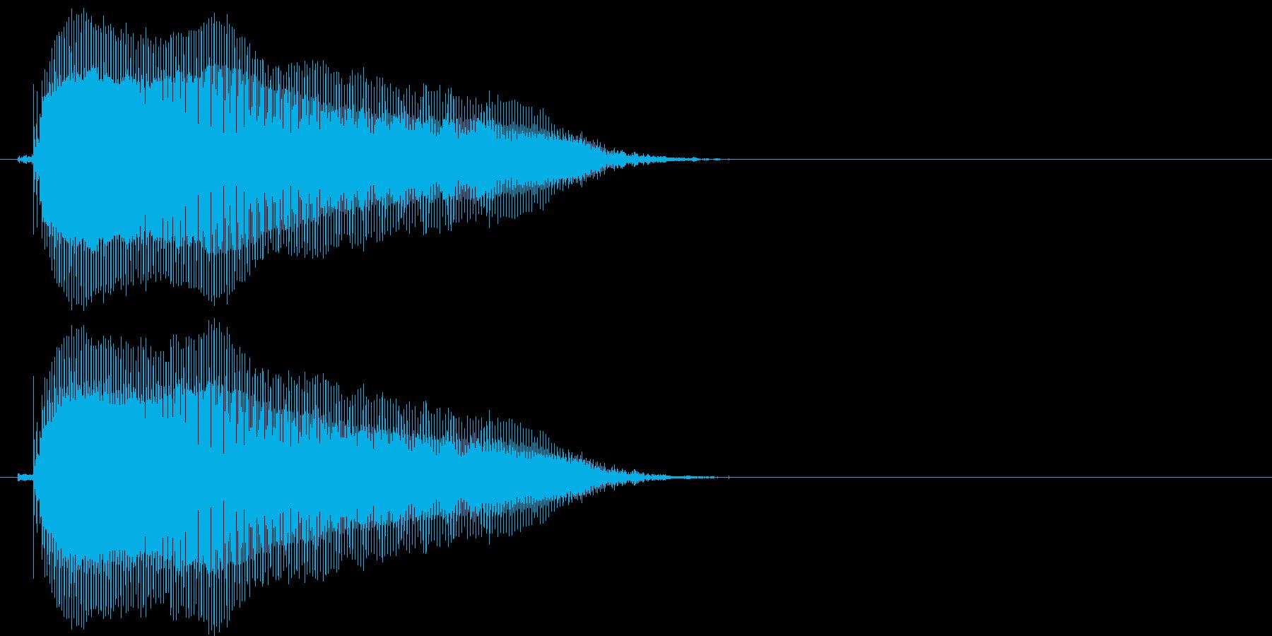 びゃー(1歳児の生声です)の再生済みの波形