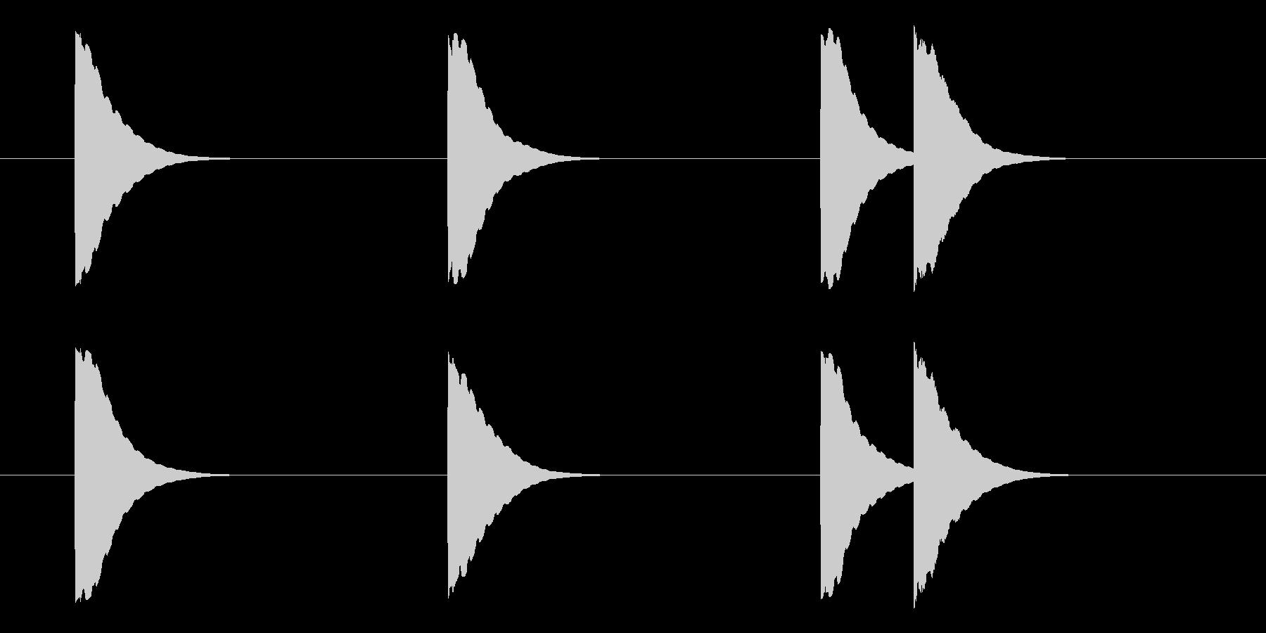 旅客機の機内チャイムの未再生の波形