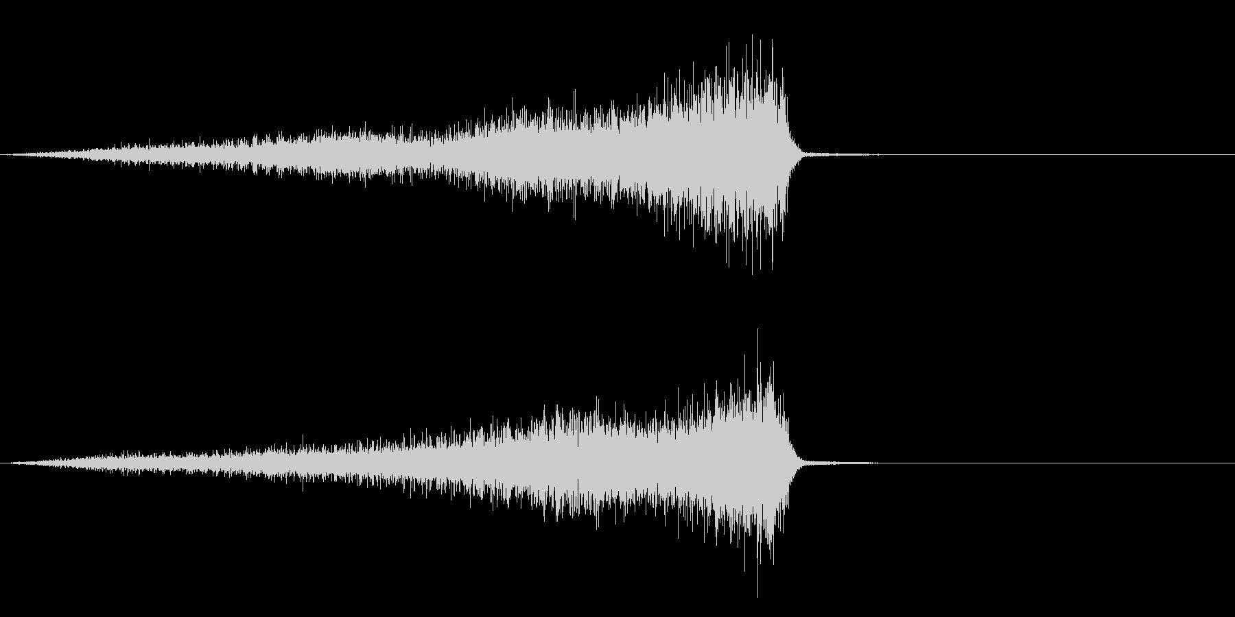 シュー・・・の未再生の波形