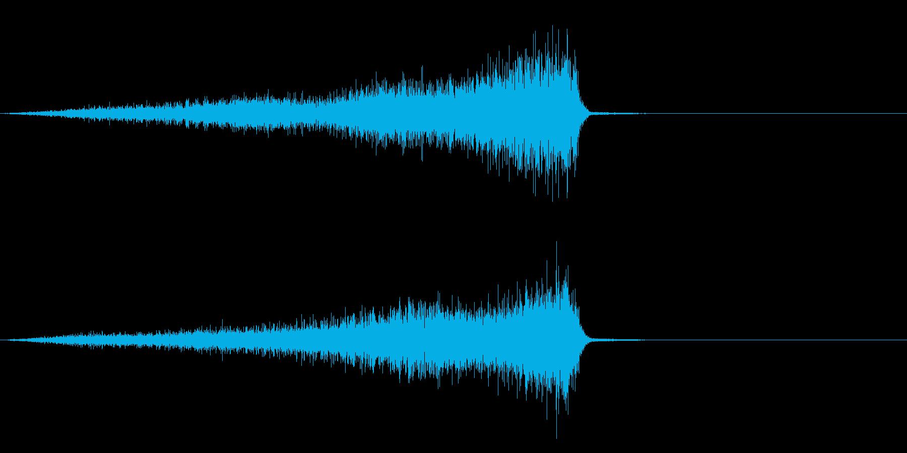 シュー・・・の再生済みの波形